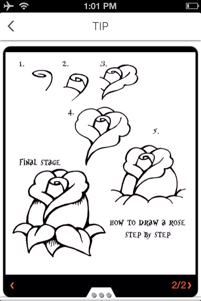 how to draw a rose easy way