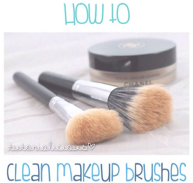 How To Clean Makeup Brushes!!(: