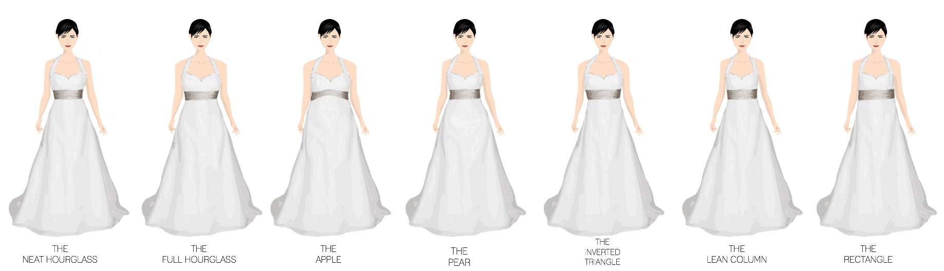 Wedding Dresses For Different Shapes : What wedding gown is best for your shape trusper