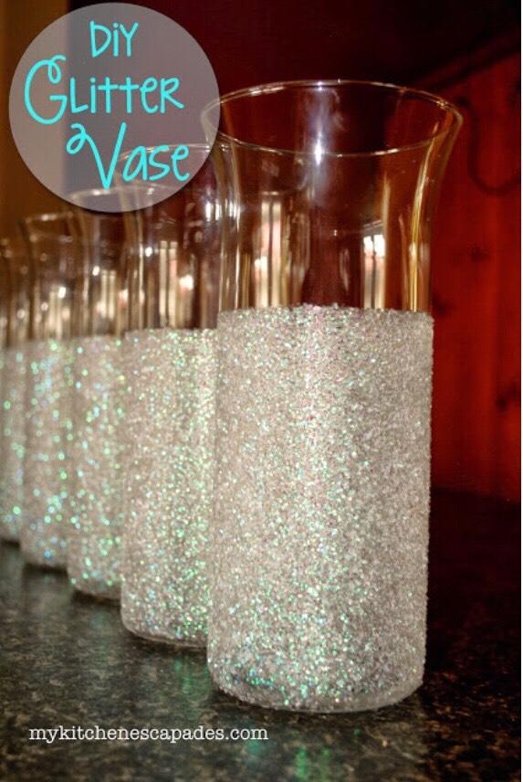 Diy Glitter Vases 💎