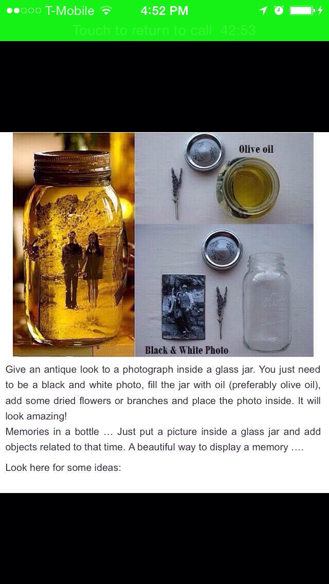 Memories On A Jar