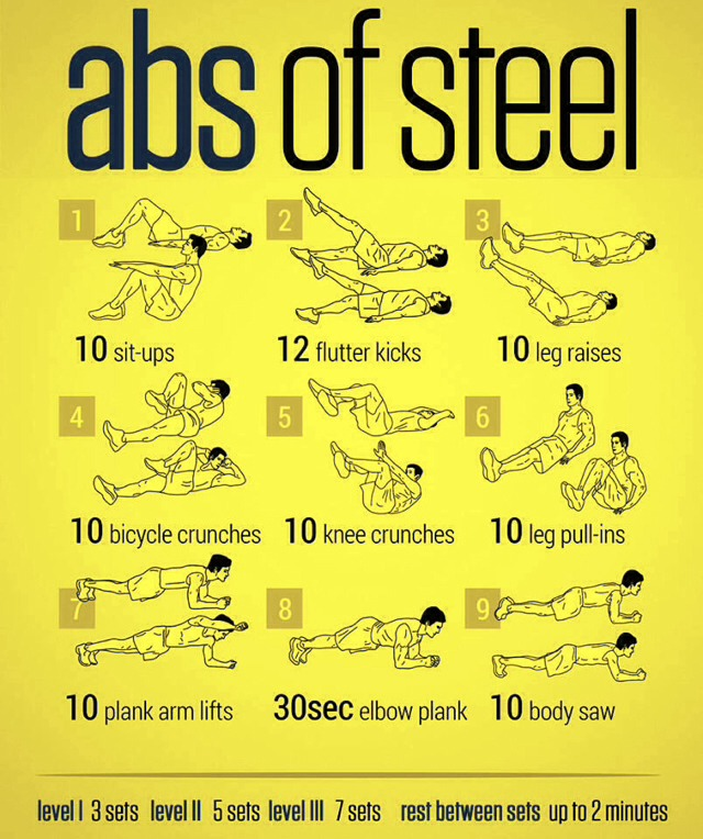 ✨The Best Abs Workout For Men And Women 👫💪