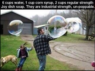 Homemade Unpoppable Bubbles!