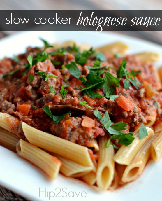 Slow Cooker Bolognese Sauce Recipe!!