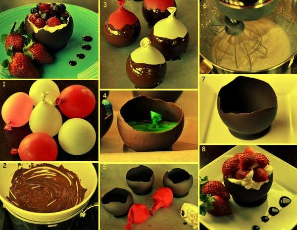 Как сделать шоколадные чашечки для мороженого