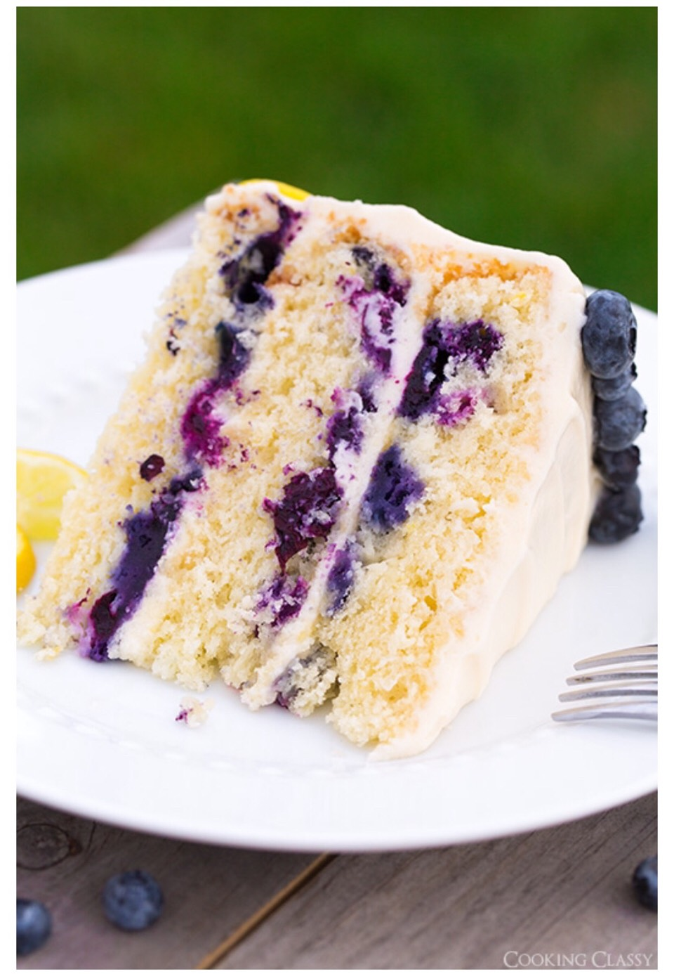 Blueberry Layer Cake With Cream Cheese Frosting
