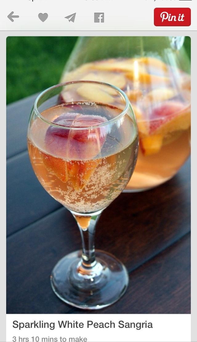Sparkling White Peach Sangria... | Trusper