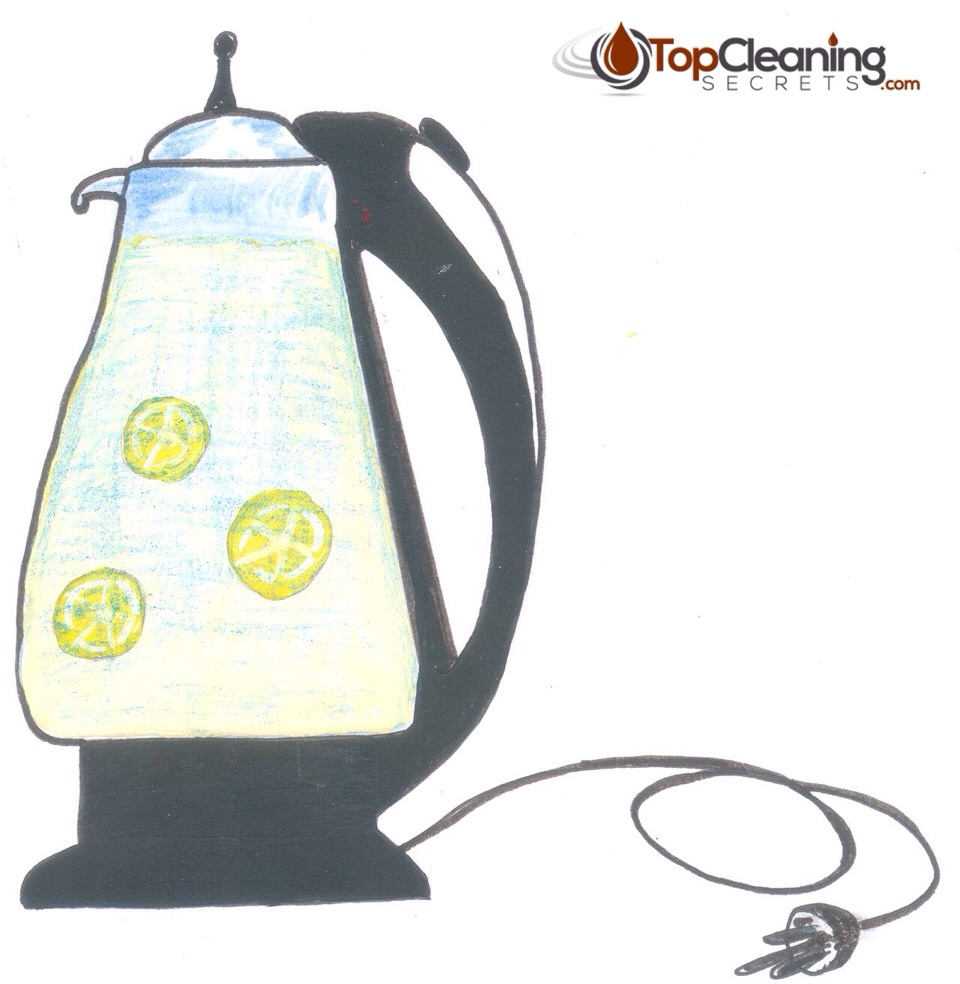 how to clean kettle with lemon