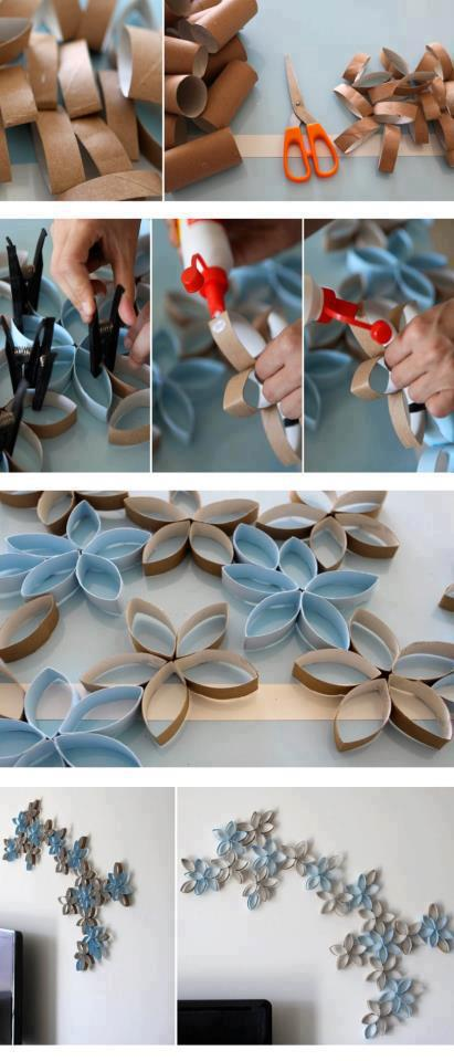 Extraordinary Smart DIY Paper Wall Decor! All are easy to realize and inexpensive!<3<3 #Tipit