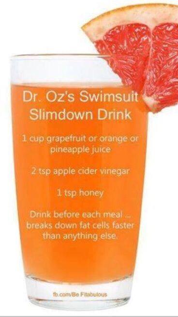 Dr Oz Swimsuit Slim down Drink