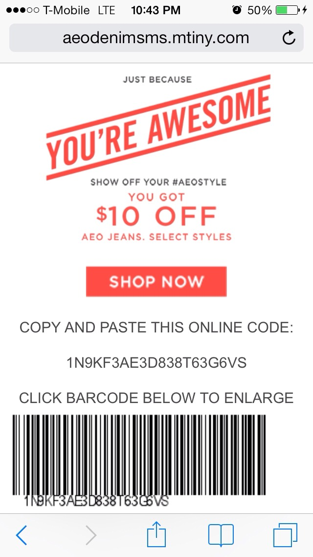 photo relating to American Eagle Coupons Printable called American eagle coupon code 10 off - Coupon trivia split