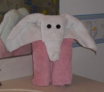 how to make towel animals for baby shower