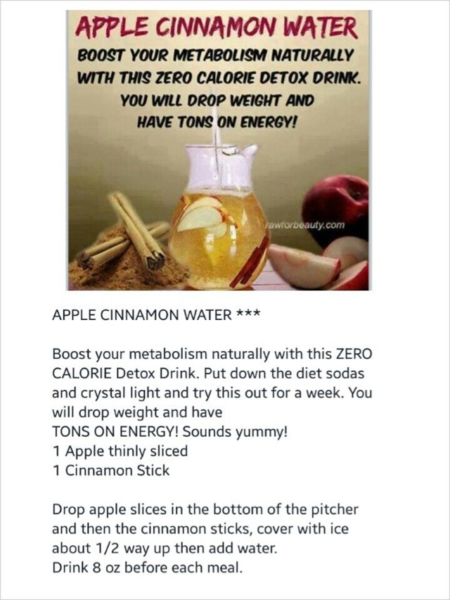 Drinking Apple Cinnamon Water Helps Boost Your Metabolism