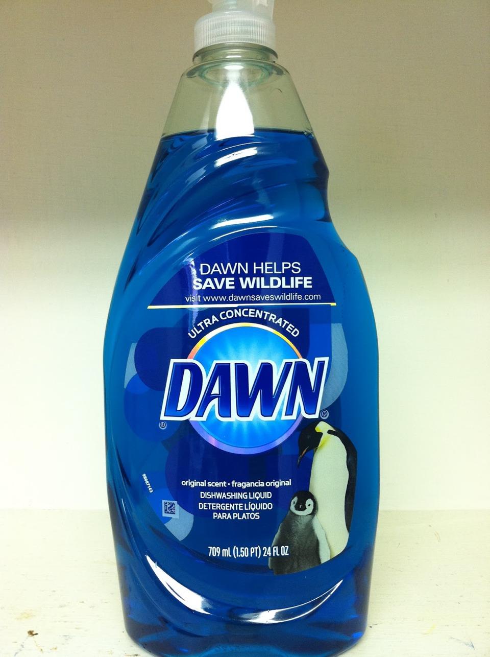 dawn dish soap to strip clothes