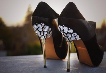 DIY Jewel Embellished Heels!!!