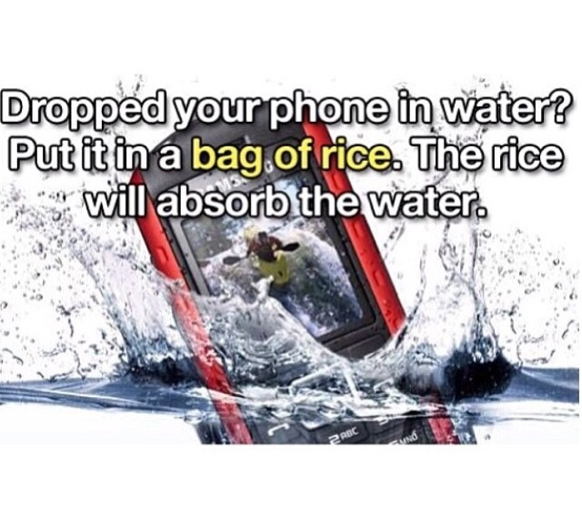 how to fix a phone dropped in water without rice