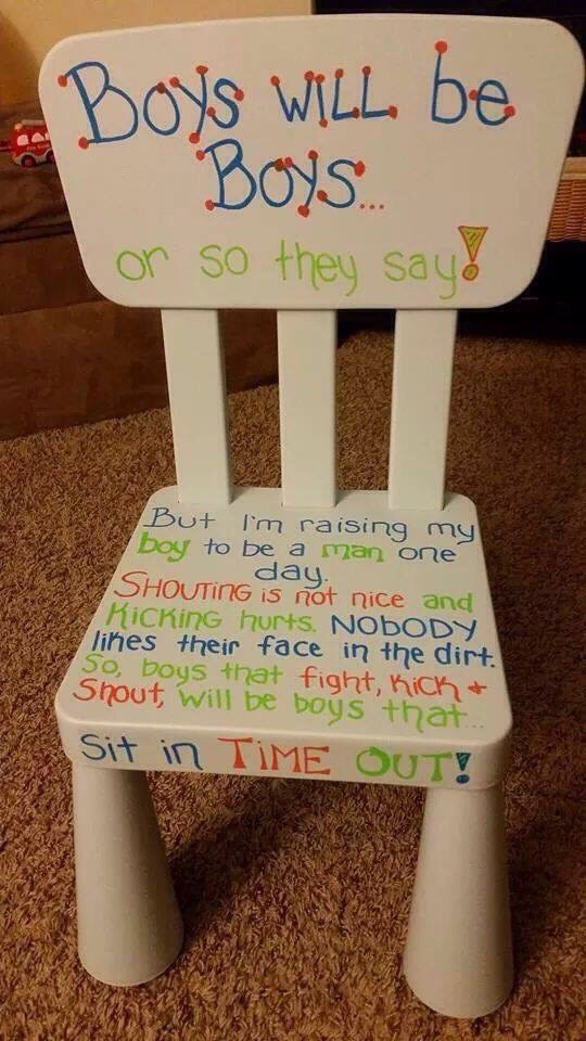 Time Out Chair Idea