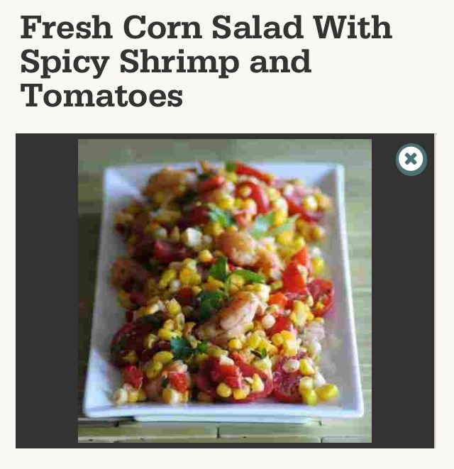 """ Fresh Corn Salad With Spicy Shrimp & Tomatoes""😋 