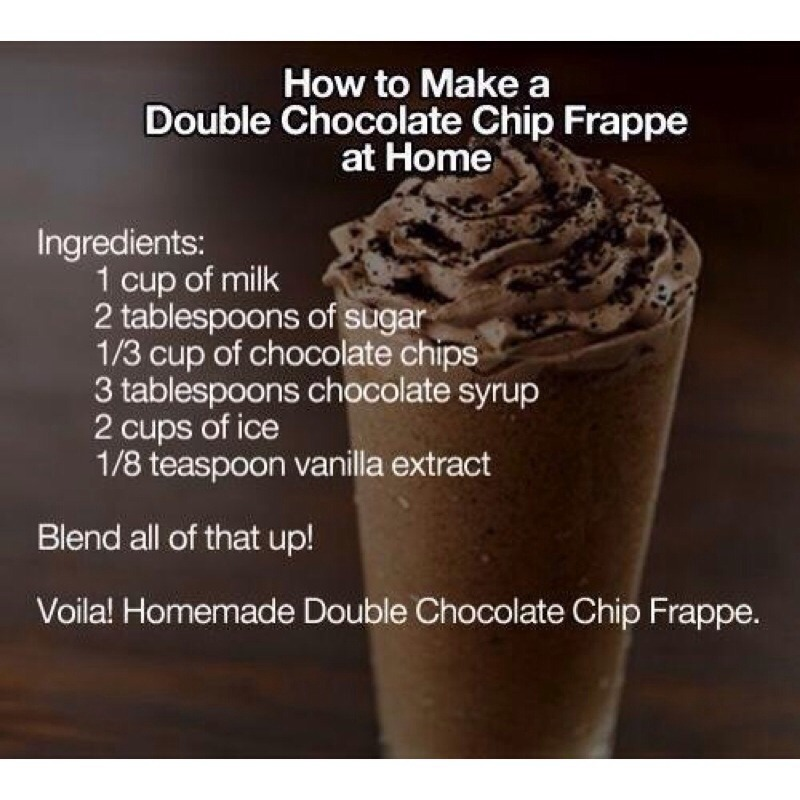 Chocolate Chip Frappe Recipe With Coffee