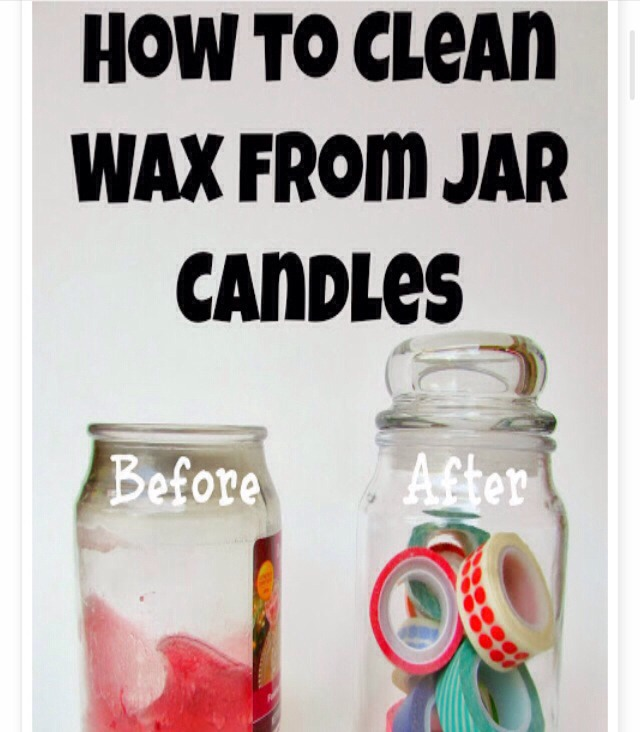 🔥How To Remove Leftover Wax From Candle Jars 👍