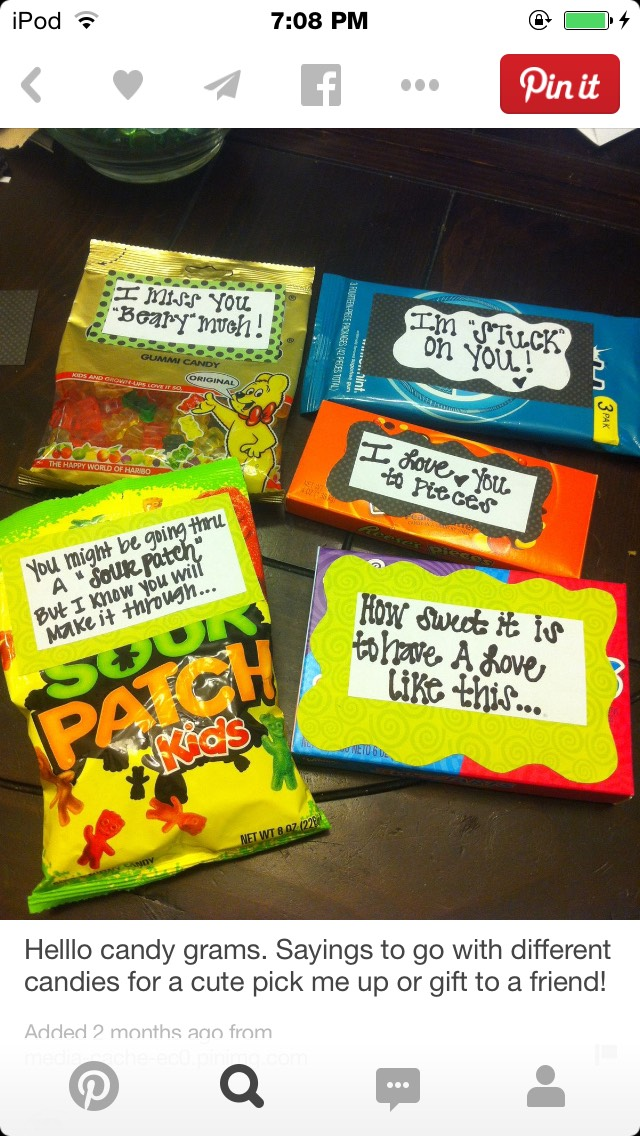 Sweet & Punny - Candy Love Notes | Trusper