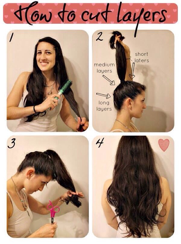 DID YOU KNOW How To Cut Your Hair In Layers! Easy And Simple!