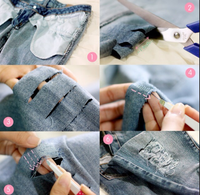 How to make your own ripped jeans trusper - Ripped jeans selber machen ...