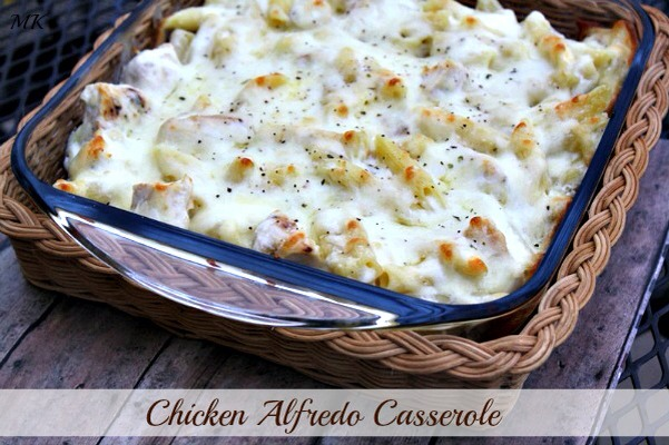 🍴Cheesy Chicken Alfredo Casserole! YUM!🍴