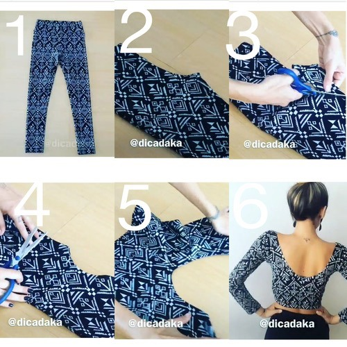 Leggings To Cropped Top