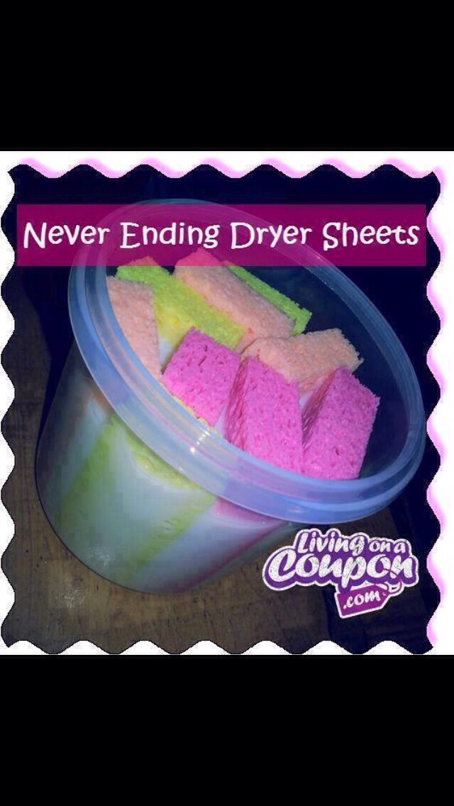 Make Your Own Dryer Sheets.