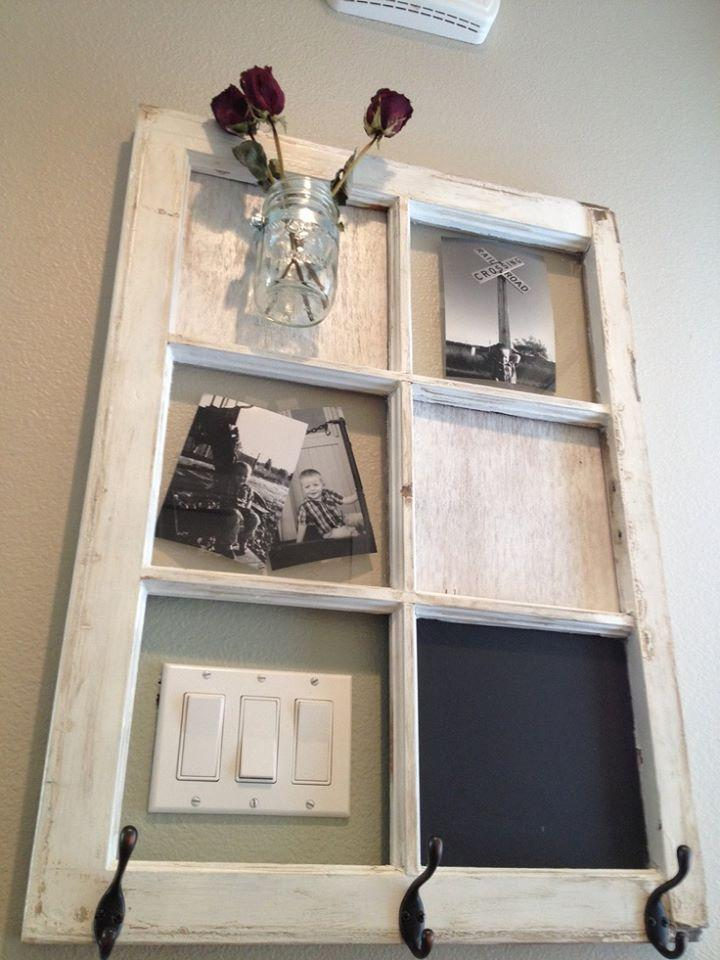 Old windows into lovely wall art trusper for Using old windows as wall decor