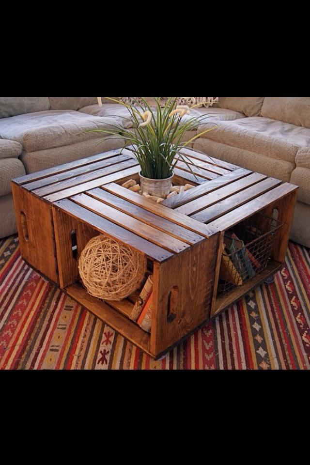 DIY Coffee Table With Crates Fantastic Trusper
