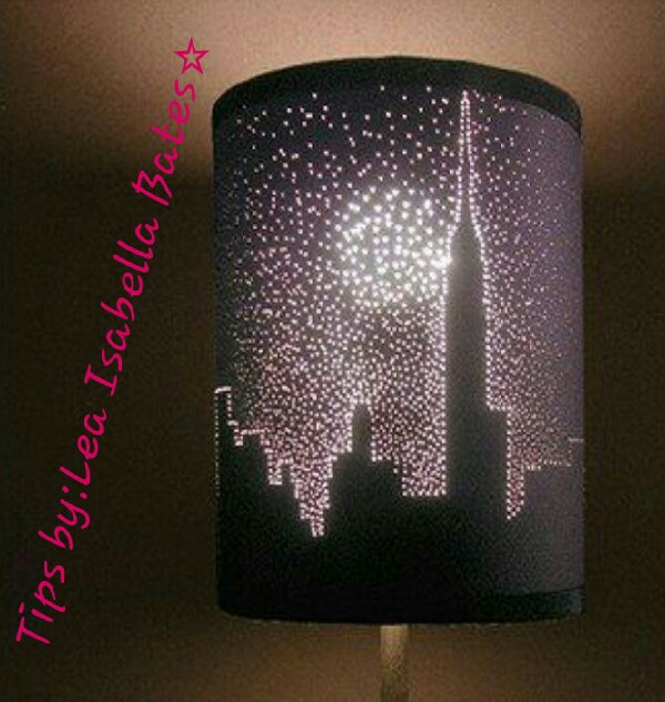 DIY Stencil Lampshade! #Tipit