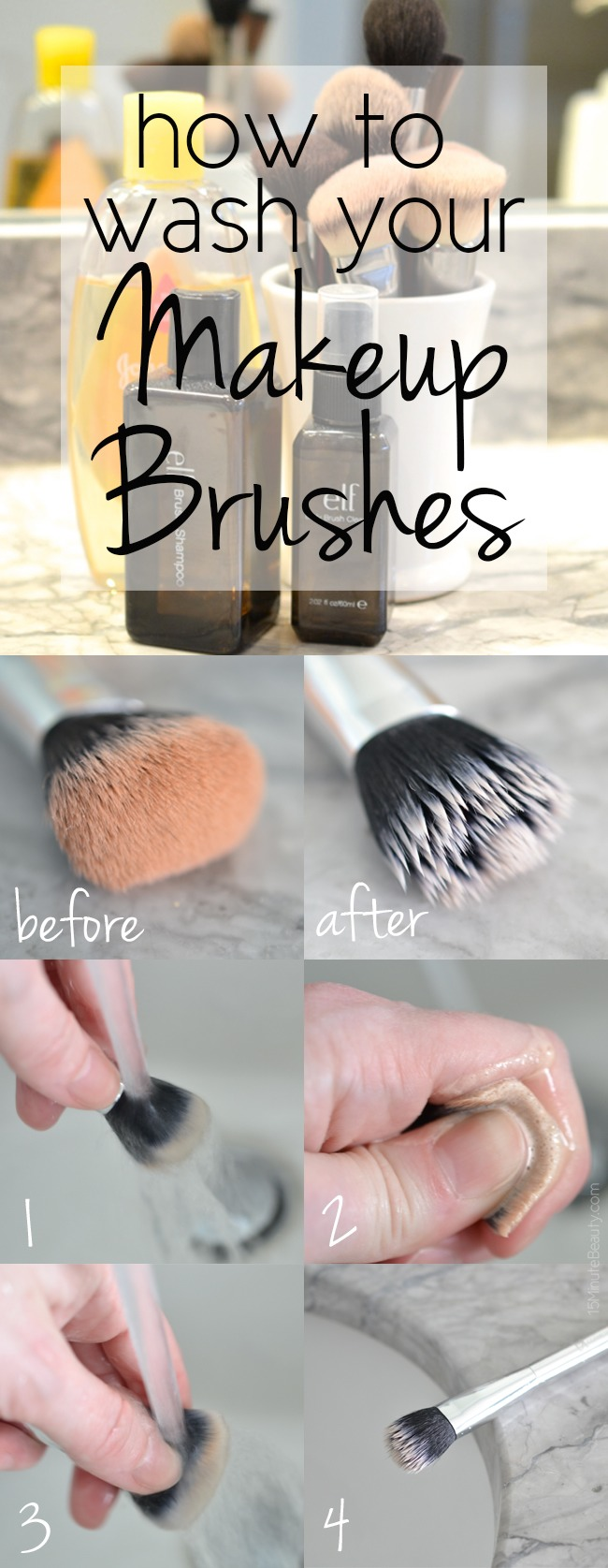 how to wash your makeup brushes trusper. Black Bedroom Furniture Sets. Home Design Ideas