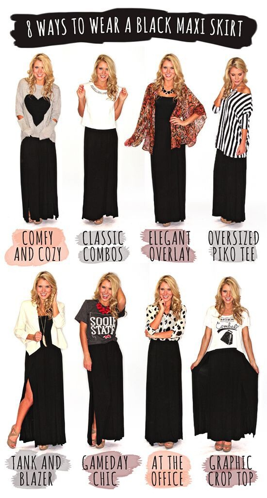 8 Ways To Wear A Maxi Skirt
