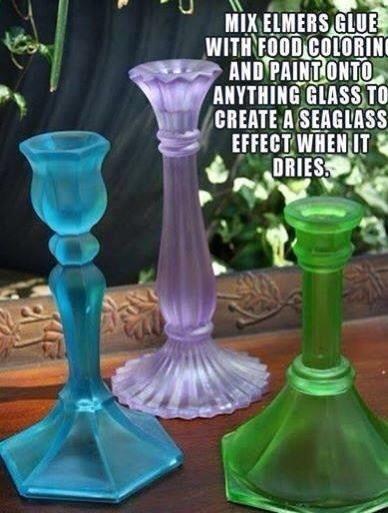Make Ordinary Glass Look Like Sea Glass