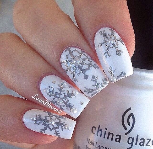 Gorgeous Fall And Winter Nail Designs!! & How To Make A Snowflake Design! 😍❄️💅👌#tipit