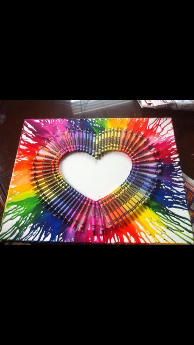 Amazing DIY Wax Crayons Art
