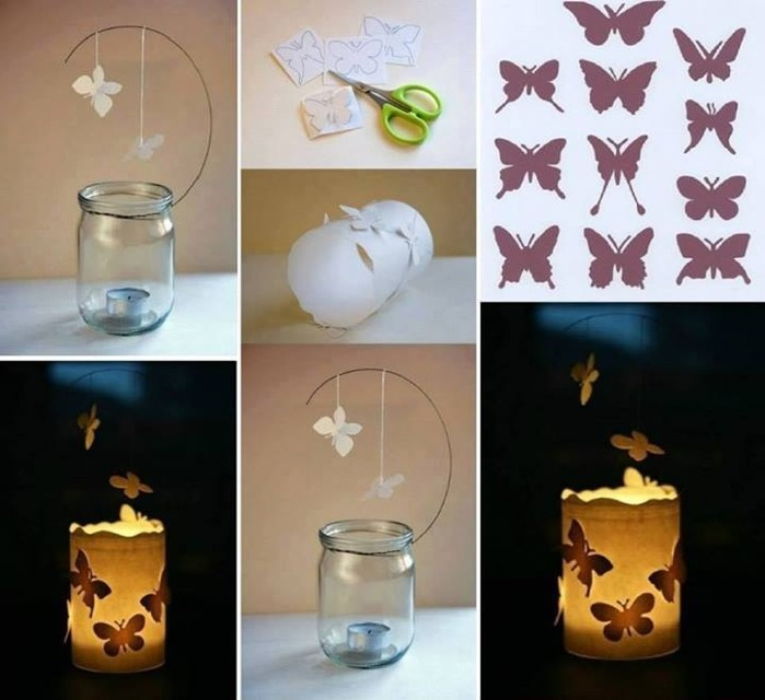 How To Decorate Your Candle Holders With Butterflies