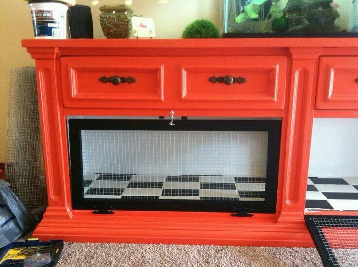 Indoor dog house ideas trusper for Rabbit cage made out of dresser