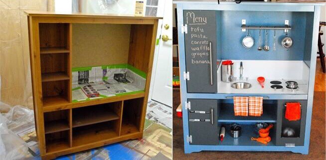 diy old furniture turned into a play kitchen trusper