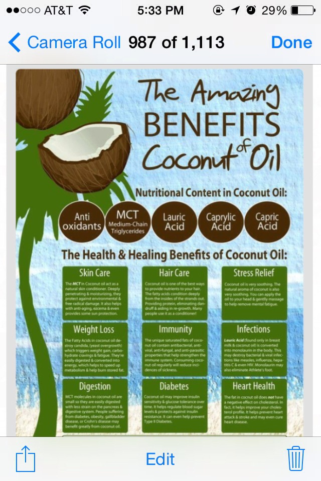 ✨The Amazing Benefits Of Coconut Oil✨