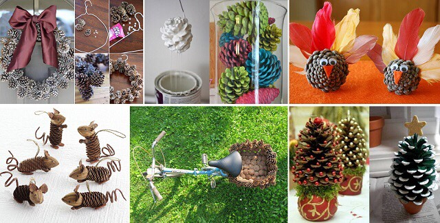 10 creative things to do with pinecones trusper for Things to make with fir cones