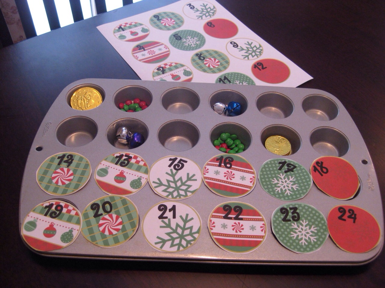 Diy Advent Calendar Muffin Tin : Christmas advent calendar trusper