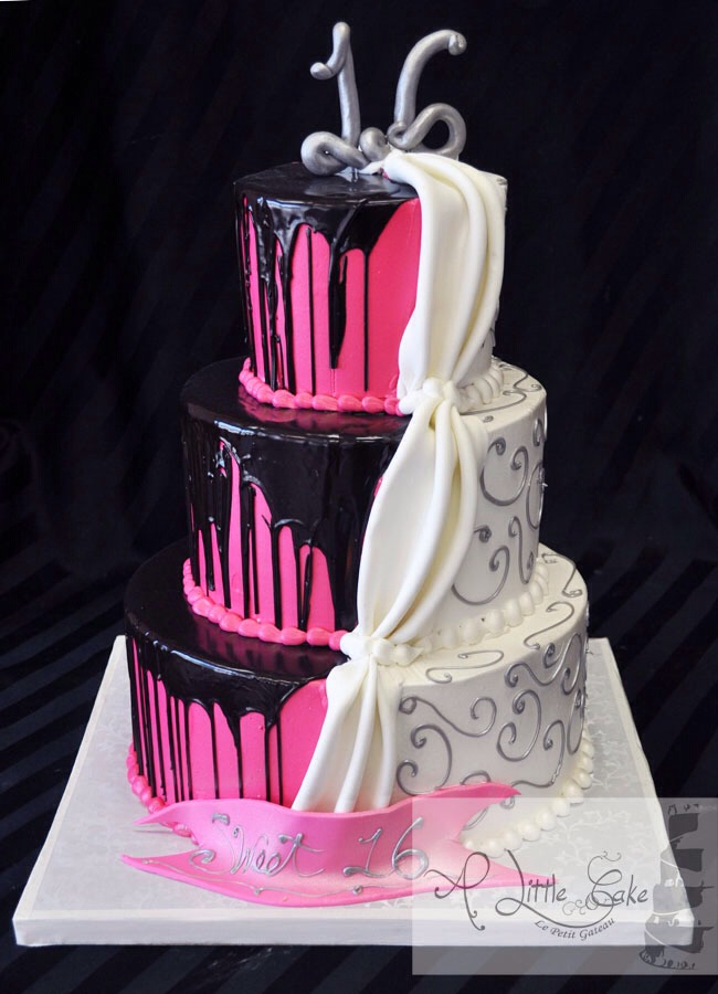 10 best Sweet 16 Cakes images on Pinterest | 16th birthday ... |Sweet 19 Birthday Cakes