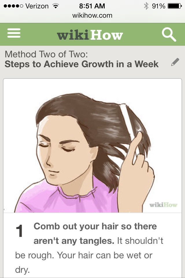 How to Grow Your Hair 3 Inches in a Week