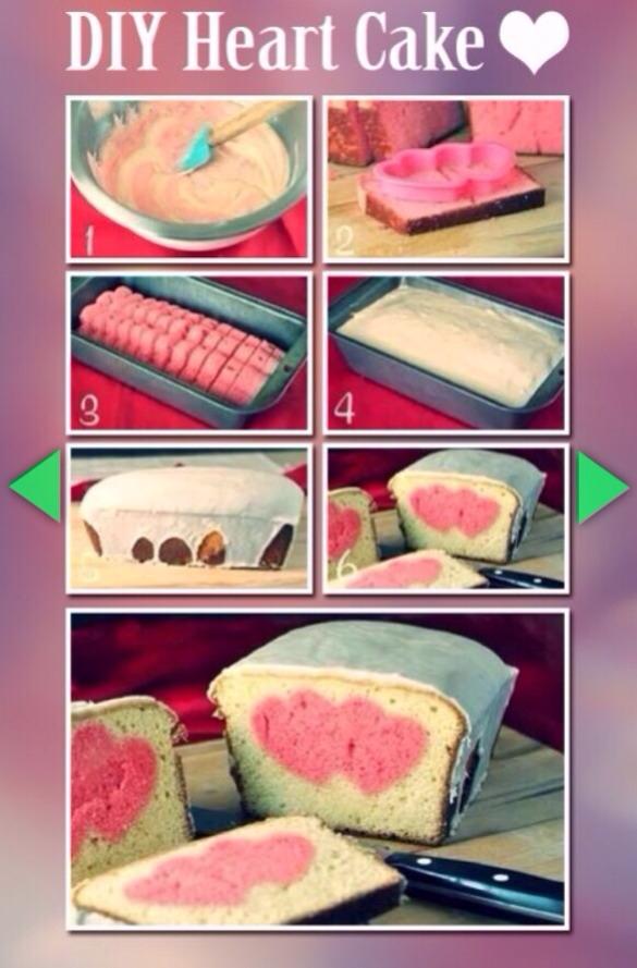 Heart In Sponge Cake