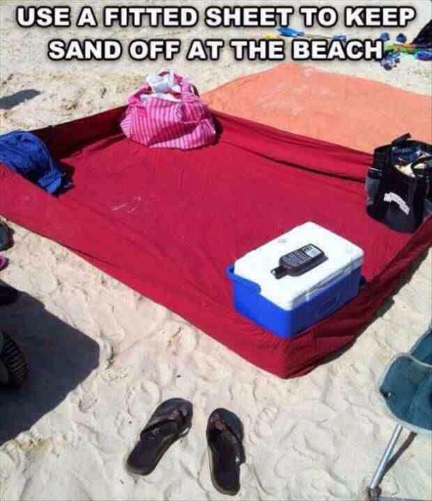 ✳️✨Uses Fitted Sheet To Keep Sand Off At The Beach✳️✨👍