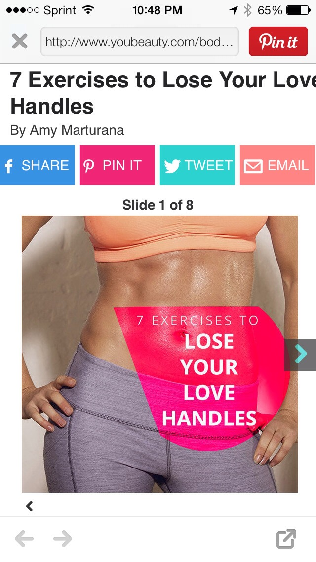 how to lose your love handles without exercising
