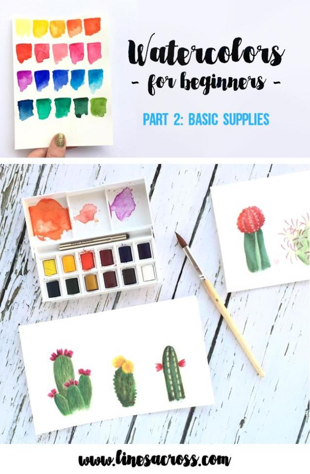 Watercolors for beginners basic supplies trusper for Watercolor supplies for beginners